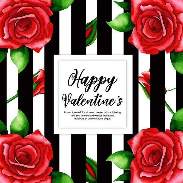 Aquarel valentine frames Premium Vector