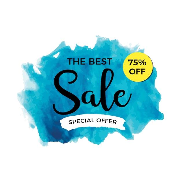 Aquarel verkoop banner Gratis Vector