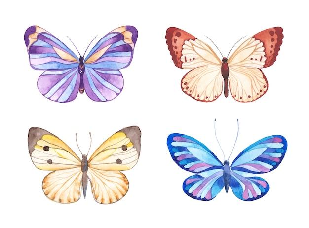 Aquarel vlinders illustratie Premium Vector