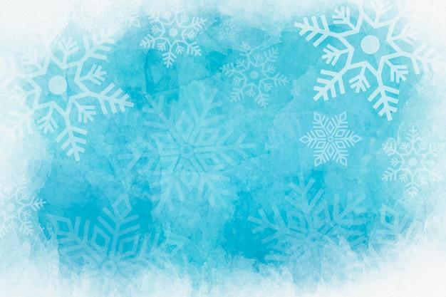 Aquarel winter achtergrond Premium Vector