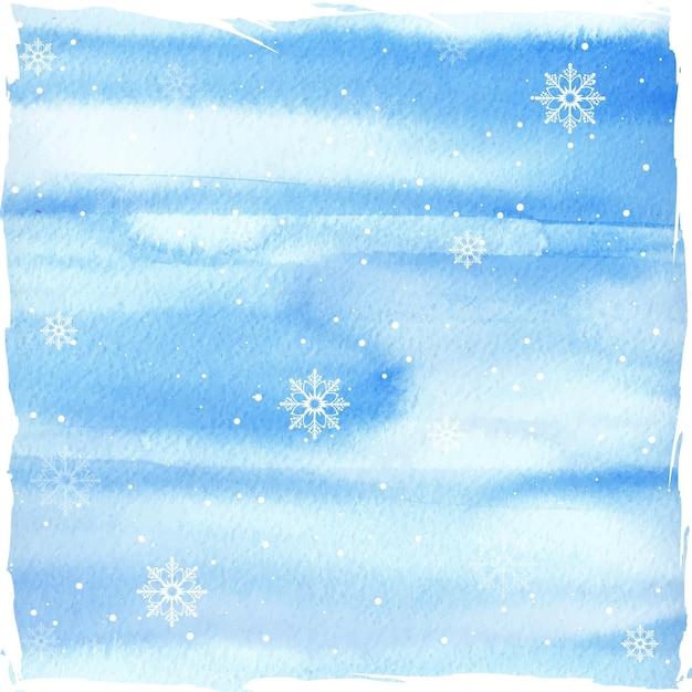 Aquarel winter achtergrond Gratis Vector