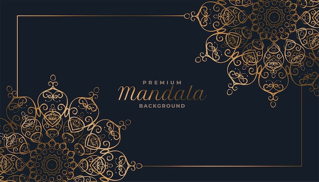 Arabesque stijl decoratieve mandala patroon achtergrond Gratis Vector