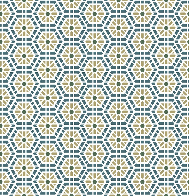 Arabisch geometrisch naadloos patroon Gratis Vector