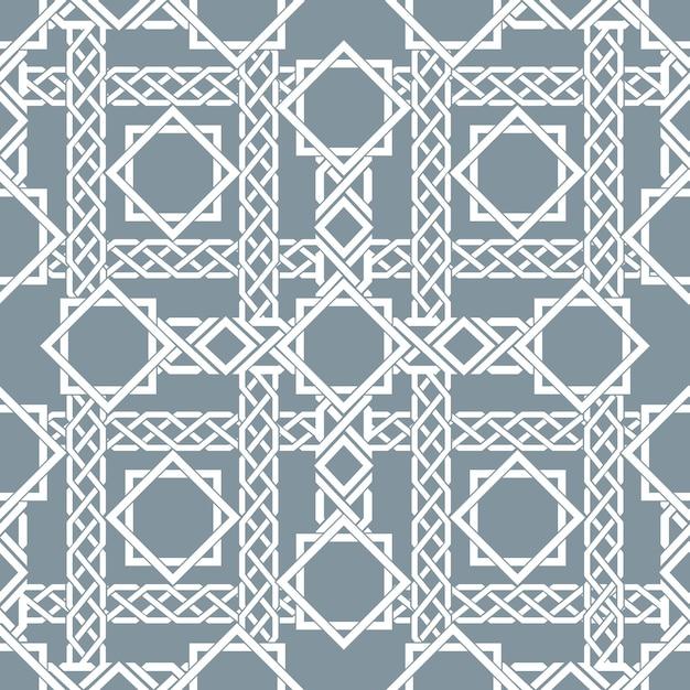 Arabisch naadloos patroon met kruisende strepen, het patroon van islamitische lijnen. decor arabisch, naadloos patroon, islamitische patroon aziatische, vectorillustratie Gratis Vector