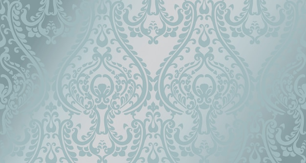 Arabisch ornamentpatroon. blauwe glanzende kleurdecors Premium Vector