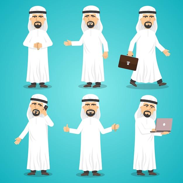 Arabische afbeeldingen ingesteld Gratis Vector