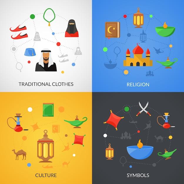 Arabische cultuurset Gratis Vector