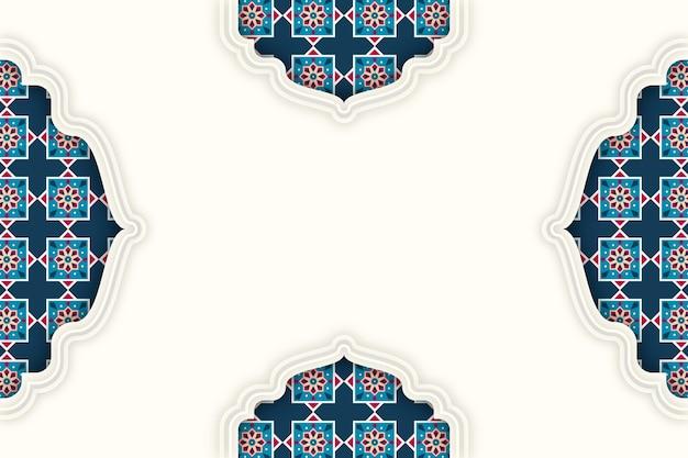 Arabische decoratieve achtergrond in papierstijl Gratis Vector