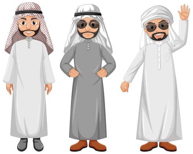 Arabische man stripfiguur Gratis Vector