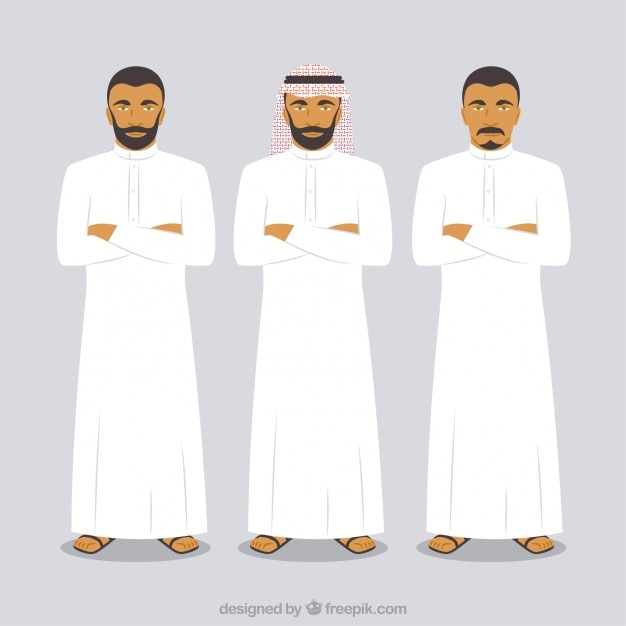 Arabische mannen Gratis Vector