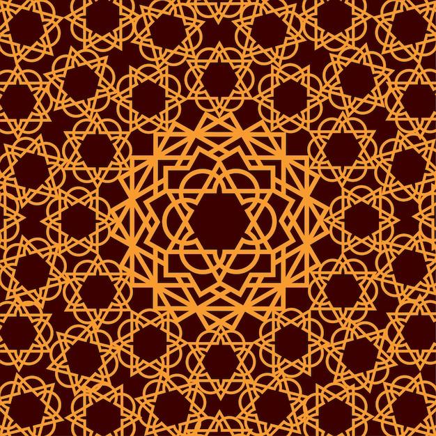 Arabische sieraad geometrische achtergrond Premium Vector