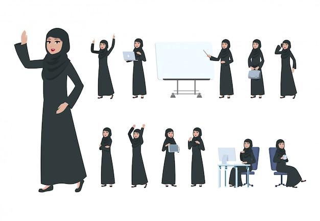 Arabische zakenvrouw. Premium Vector