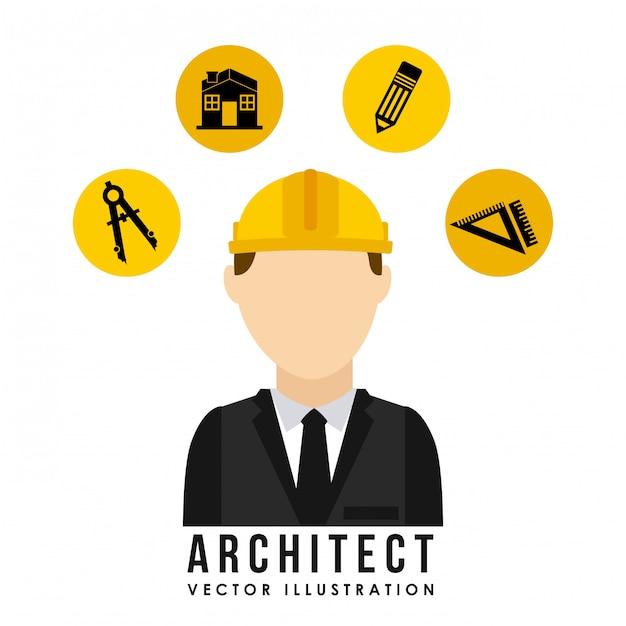 Architecht ontwerp Gratis Vector