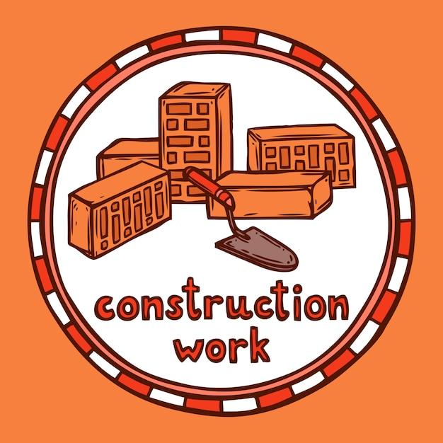 Architect bouwconstructieschets Gratis Vector