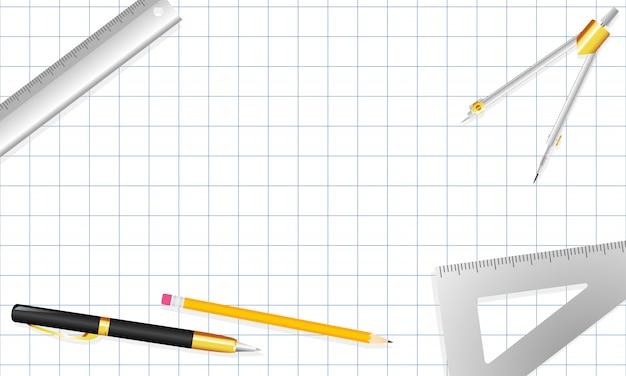Architect briefpapier achtergrond vectorillustratie. Premium Vector