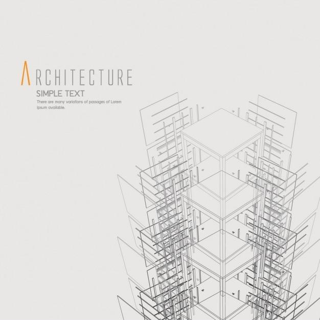 Architectuur achtergrond ontwerp Gratis Vector