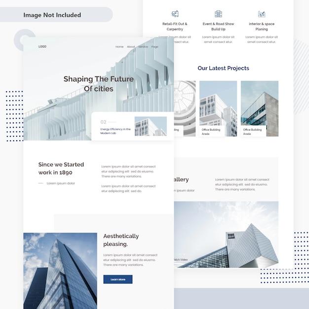 Architectuur e-mail webpagina Premium Vector