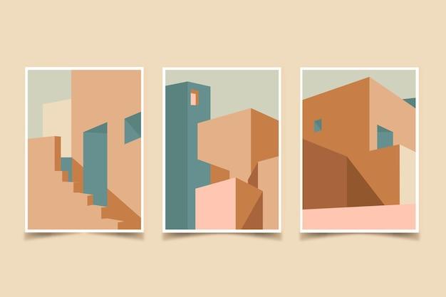 Architectuur omvat minimaal sjabloon Gratis Vector