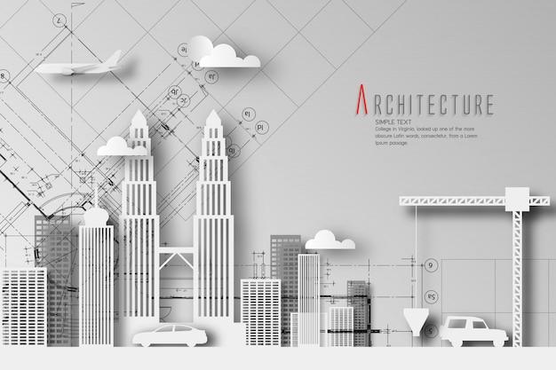 Architectuur van eco- en wereldmilieudag Premium Vector