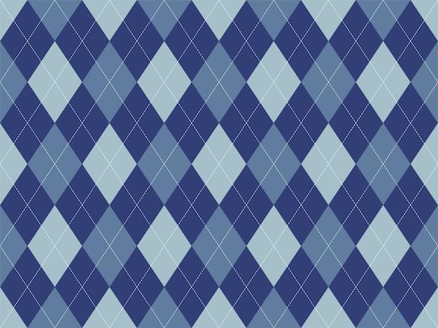 Argyle patroon naadloos. stof textuur achtergrond. klassiek argill ornament Premium Vector