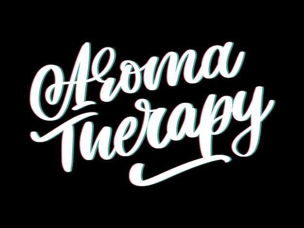 Aromatherapiebrief voor luxe levensstijl. alternatief medicijn. gezonde levensstijl concept. organisch teken. Premium Vector