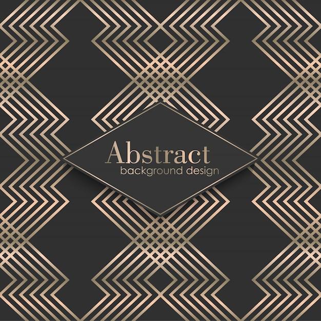 Art deco naadloos patroon met gouden elementen Gratis Vector