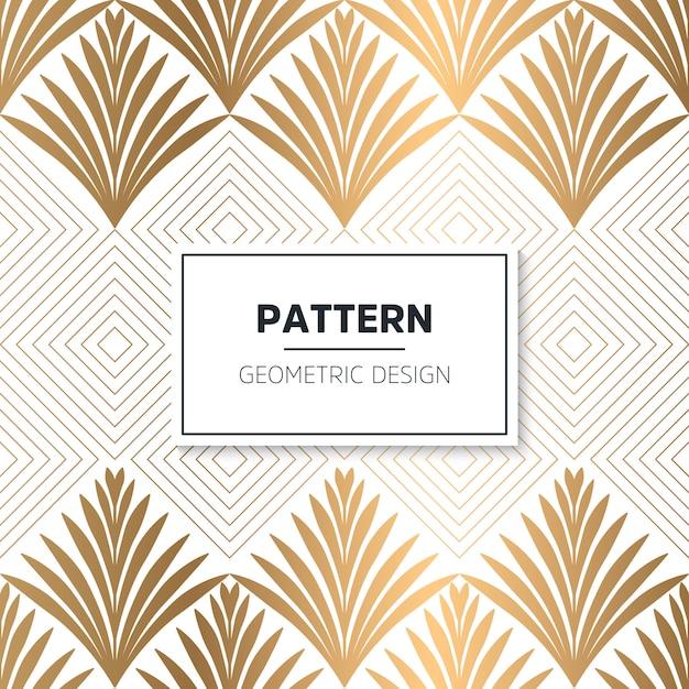 Art deco naadloos patroon Gratis Vector