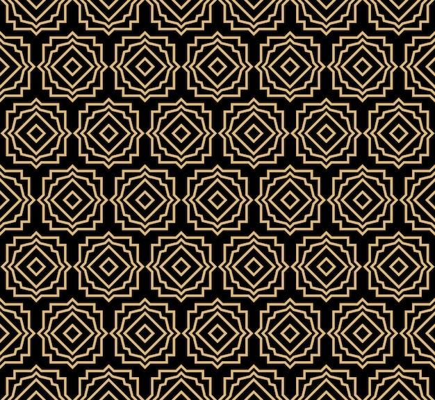 Art deco naadloos patroon Premium Vector