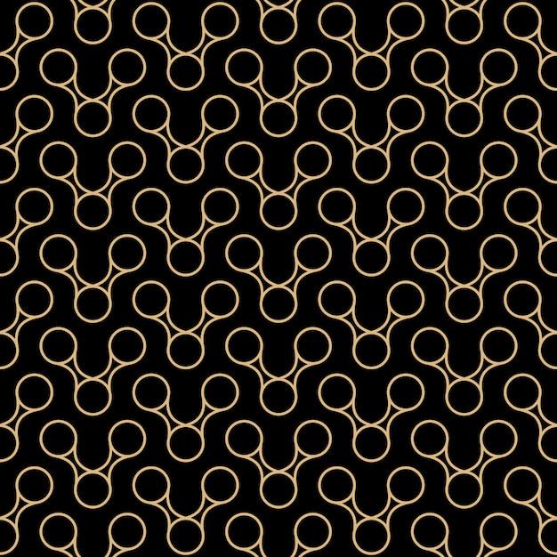 Art deco naadloze patroon ontwerp Premium Vector