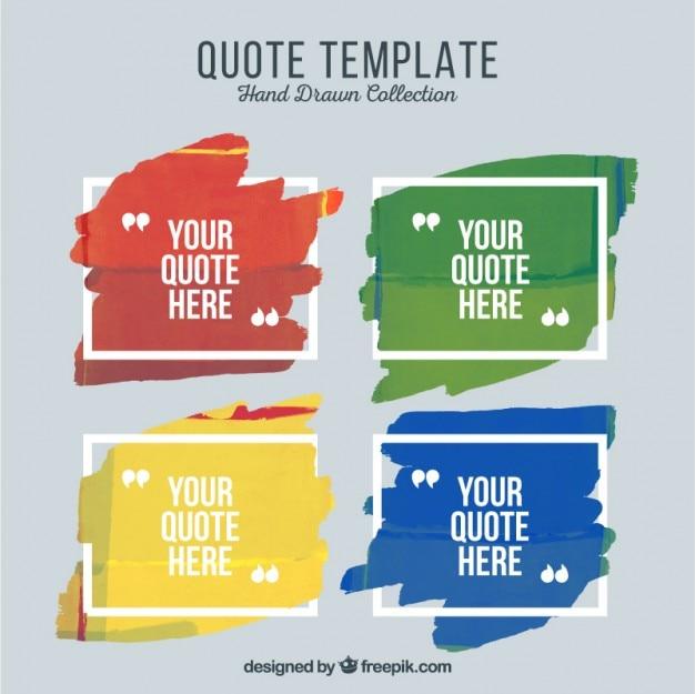 Artistieke citaat templates verf Gratis Vector