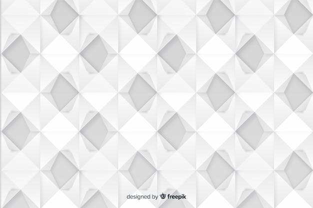 Artistieke geometrische papier stijl achtergrond Gratis Vector