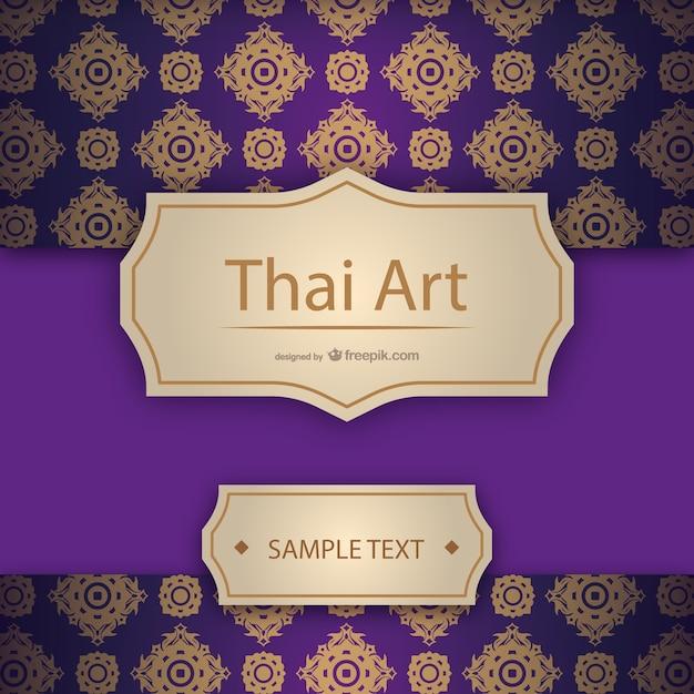 Artistieke thaise sjabloon Gratis Vector