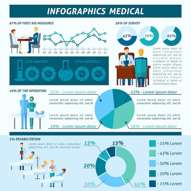 Arts infographic set Gratis Vector