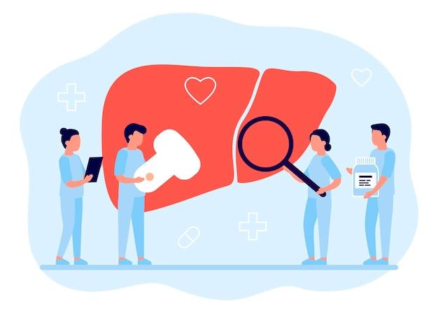 Artsen die medisch onderzoek doen om de gezondheid te controleren Premium Vector