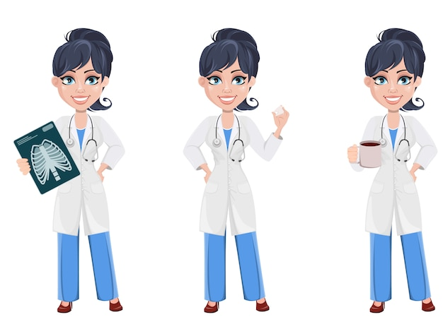 Artsenvrouw, professioneel medisch personeel Premium Vector