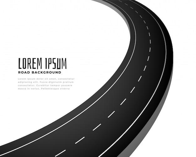 Asfalt curve weg track pad achtergrond Gratis Vector