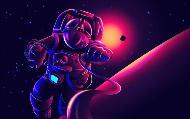 Astronaut art in vector Premium Vector