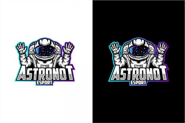 Astronaut vector logo Premium Vector