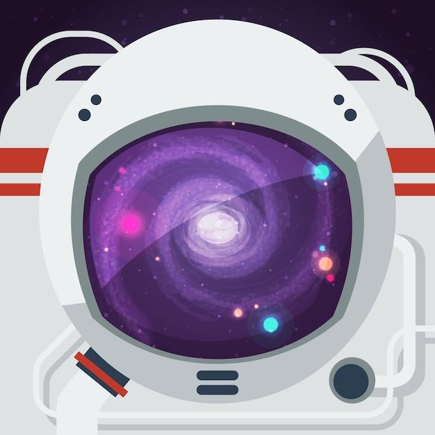 Astronaut vlakke afbeelding Gratis Vector
