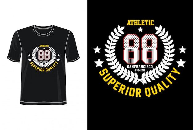 Athletic 88 typografie voor print t-shirt Premium Vector