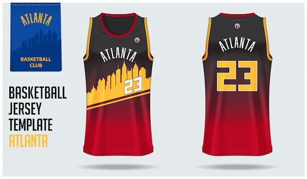 Atlanta basketbal jersey sjabloon Premium Vector
