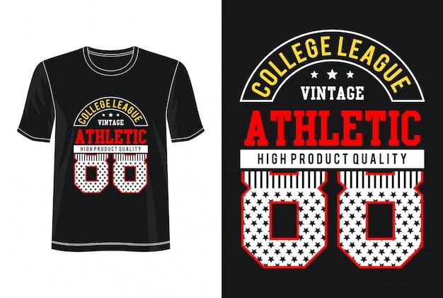 Atletisch 88-t-shirt met typografieontwerp Premium Vector