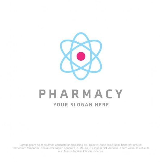 Atom pharmacy logo Gratis Vector