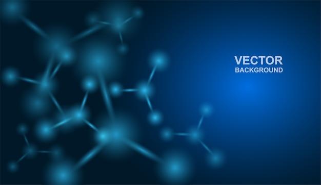 Atomen achtergrond Premium Vector