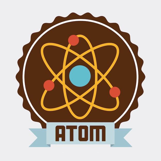 Atoom ontwerp Premium Vector