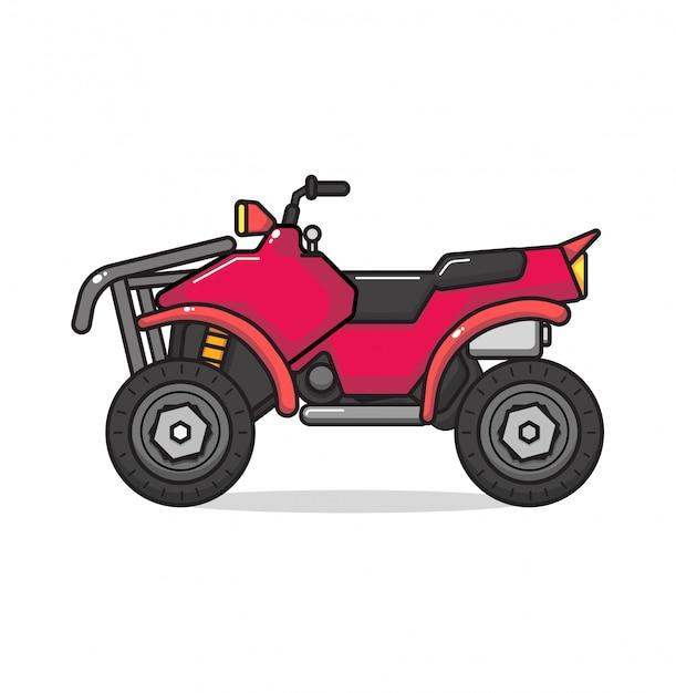 Atv motorfiets geïsoleerd. Premium Vector