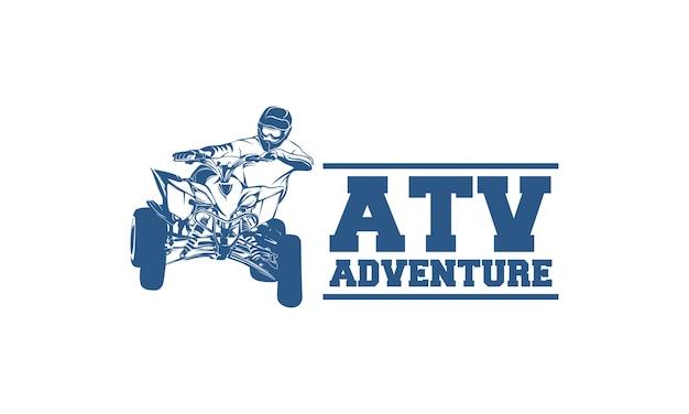 Atv-voertuigembleem en emblemen Premium Vector