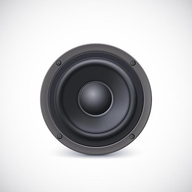 Audio luidspreker diffusor Premium Vector