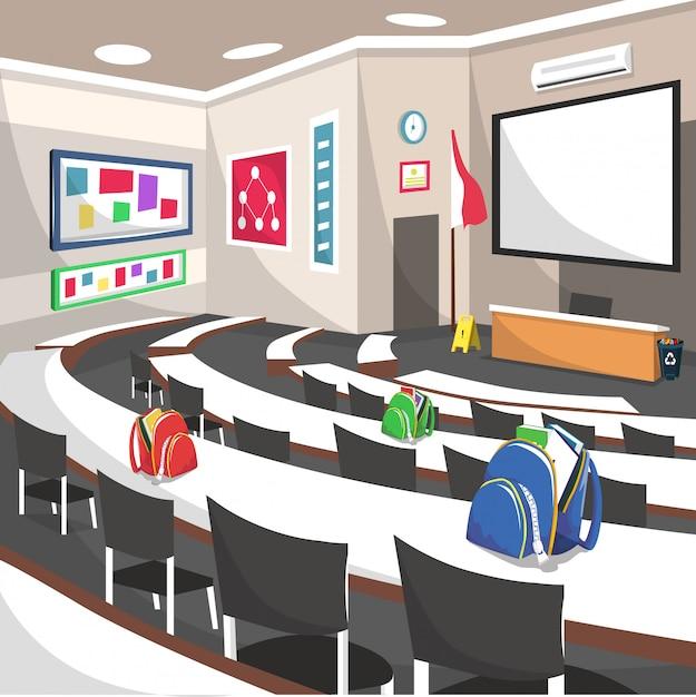 Auditorium college seminar school room Premium Vector