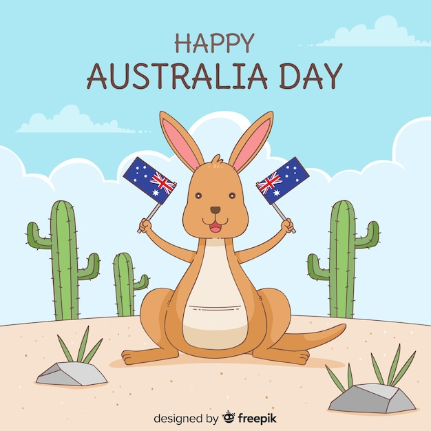 Australië dag achtergrond Gratis Vector